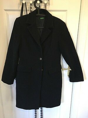 Women Black Coat Size 10/12