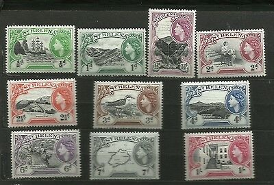 St Helena 1953 complete to 1/- unused and unmounted