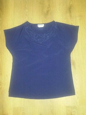 Ladies Vintage Blue Top Size 8 10!
