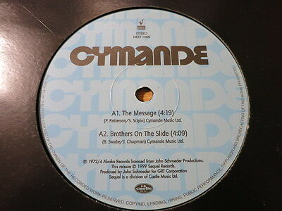 """Cymande - Brothers on the Slide / The Message - 12"""" Vinyl Funk Soul Cutup RARE"""