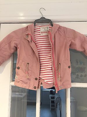 Girls Pink Next Raincoat With Hood. Size 1.5 - 2. Excellent Condition.