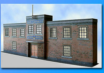 7mm Scale Factory Plating Works Card Model Kit Ideal For O Gauge Trains