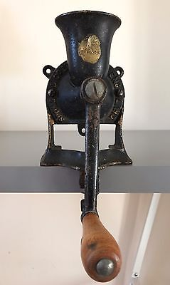 Authentic Vintage Metal Spong No.1 Coffee Grinder Wall Or Table Mounted Barista