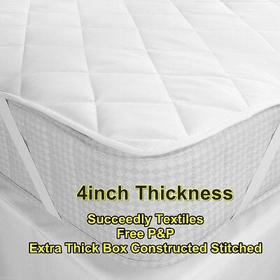"5* Star 2"" inch Mattress Toppers 500GSM Heavily Filled Mattress Topper Protector"