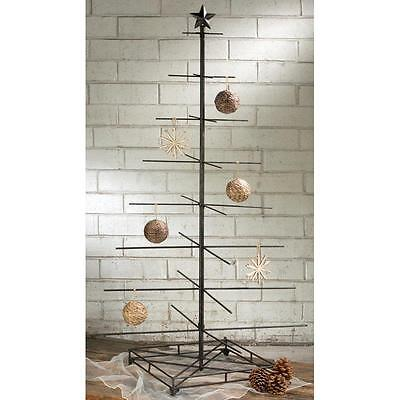 4.5 Foot Modern Industrial Metal Ornament Tree Holiday Display Christmas Decor