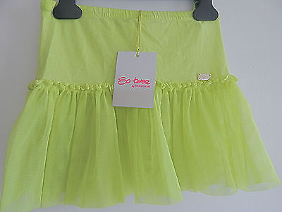 Bnwt Miss Grant 'so Twee' Beautiful Green Net Stretch Skirt Age 5 Tag Price £50