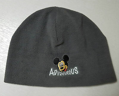 Disneyland Paris Official Mickey Mouse Fleece Beanie Hat Ski Hat Skull Cap New