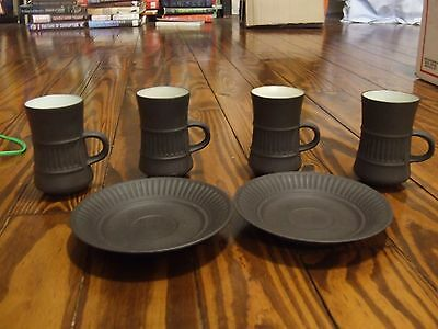 dansk flamestone cups and saucers
