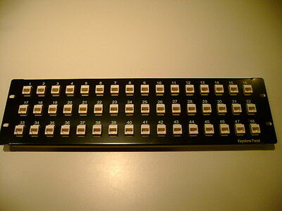 In-Line Ethernet Patch Panel, 48 Port, 3U, Loaded RJ-45, Pass-Thru New