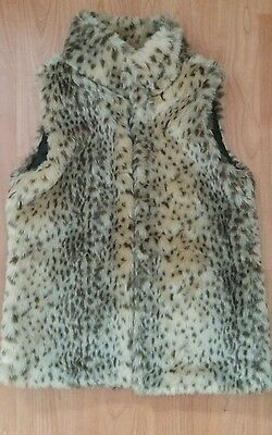 Girls Fur Leopard Gillet Matalan 8-9 Years