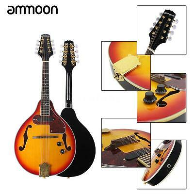 8-String Electric Mandolin A Style w/ Cable Strings Cleaning Cloth Sunburst F6P6