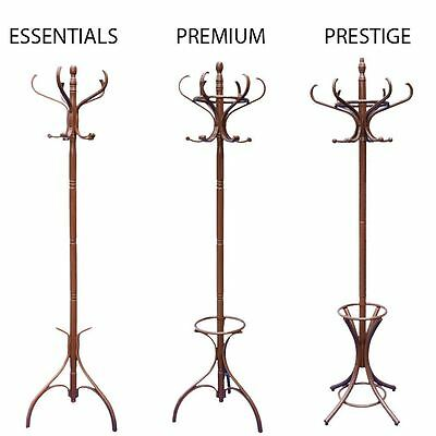 Coat Stand Walnut Hook Coat/Hat/Jacket/Umbrella Standing Bentwood Hanging Rack