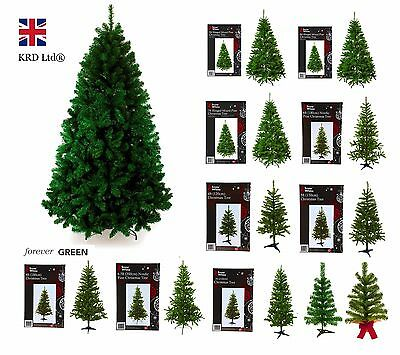 Artificial Christmas Tree Premium Pine Traditional Design Forest Green Xmas Gift