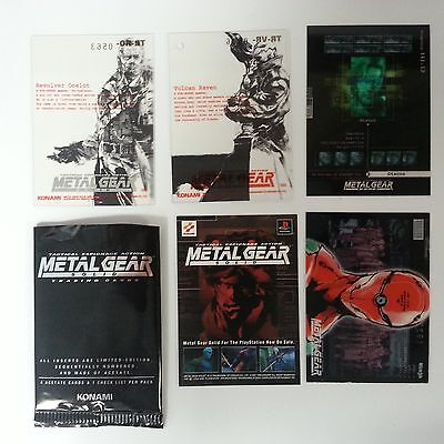 Metal Gear Solid Trading Cards Acetate limited edition 1 opened Booster Pack