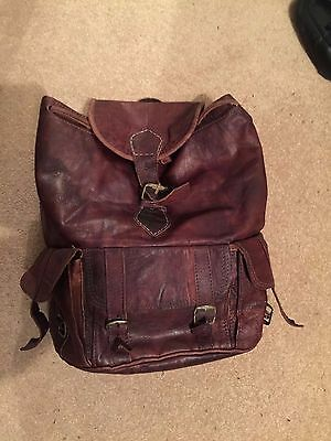 Authentic Moroccan leather rucksack