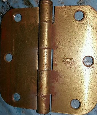 1 Vintage Stanley USA Metal Door Hinge 3.5""