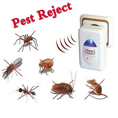 New 2 x Pin Pest Control Reject Rat Spider Insect Ultrasonic Repeller Repellent