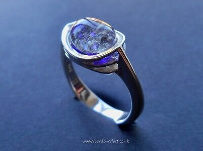 Ashes Cremation ring 925 Sterling Silver Ring Sizes j-t