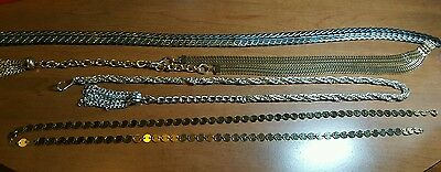 4 Retro Gold / Silver Tone Belts Tassels ,Stretch Awesome!