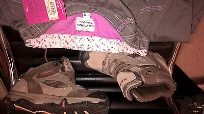 BNWT girls Peter Storm trs, 9-10y with good condition Meindl walking shoes sze 1