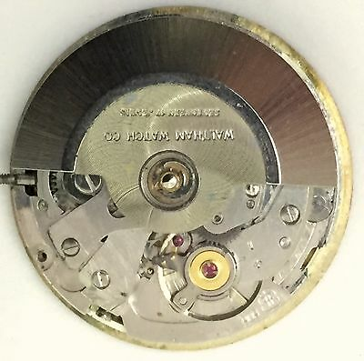 Waltham Font Caliber 909 Automatic Watch Movement With Hands And Dial