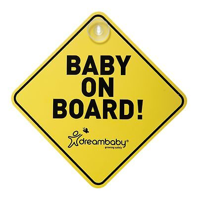 "Schild "" Baby on board "" mit Saugnapf"