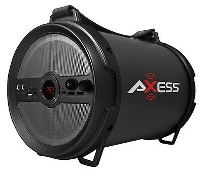 """Axess 1.0 Outdoor Active HIFI 6"""" Bluetooth Speaker with Mic (Grey) SPBT1040-GY"""