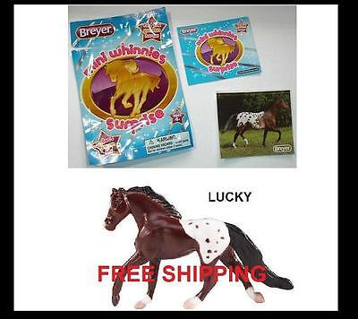 Breyer LUCKY bay blanket CANTERING TB MARE Surprise Mini Whinnie Sticker Catalog