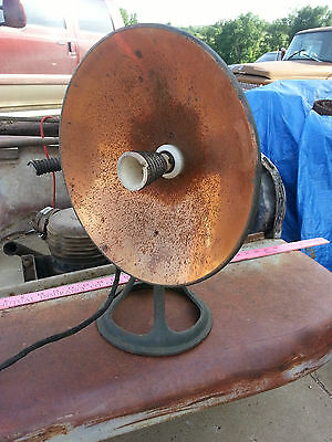 Vintage Electric Space Heater Cast Iron/ Heavy Metal Base -needs refurbishing