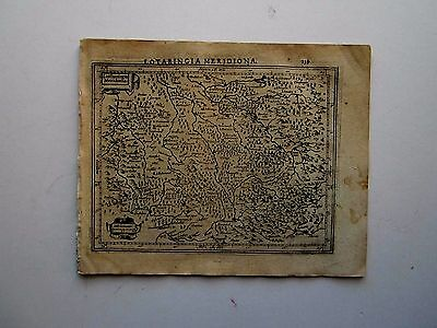 FRANCE Lorraine Southern part Mercator Hondius 1607 orig. antique map