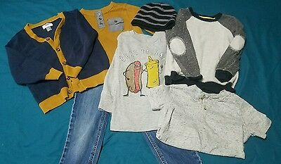 Boys 4T Winter Fall Clothing Lot, Old Navy Jeans Shirts Sweater EXCELLENT