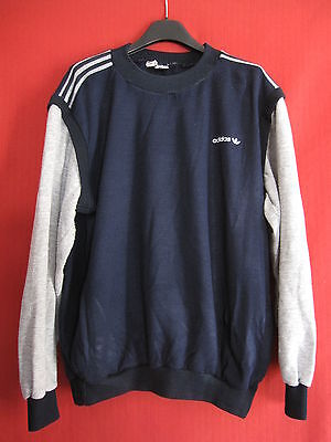 Sweat Adidas Ventex Made in France Marine Rétro Pop vintage 70'S - 186 / XL