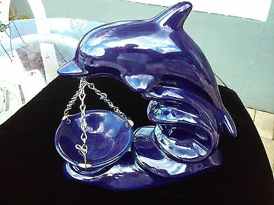 Blue Ceramic Dolphin Oil Diffuser or Candle Wax Warmer