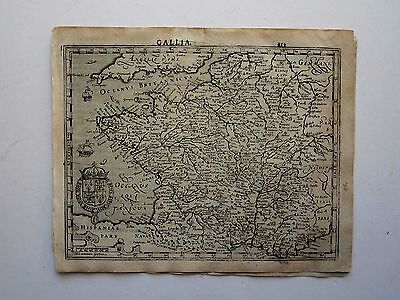 FRANCE  Mercator Hondius 1607 orig. antique map