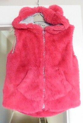 Girls Hooded Gilet / Bodywarmer  By Next, Age 3 - 4 Years