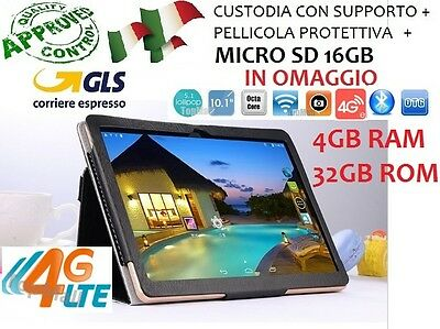 TABLET 10.1 POLLICI 4G LTE OCTA CORE 8x2.0GHz 4GB RAM 32GB ROM ANDROID 5.1 2 SIM
