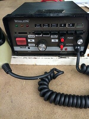 Whelen WS295HFS6 Siren Light Control Switches,Missing Top Selector Priced To Sel