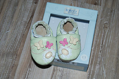 chaussons fille cuir robeez 0-6 mois