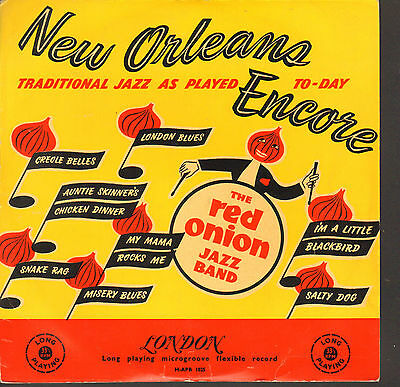 """RED ONION JAZZ BAND-10""""LP- NEW ORLEANS ENCORE- RARE 1950s  LONDON BLACK/GOLD-"""