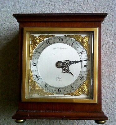 eliott mantel clock made by the bell brothers in excellent condition.