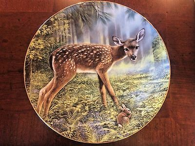 """1996 The Hamilton Collection """"Innocent Companions"""" Little Fawns of the Forest"""