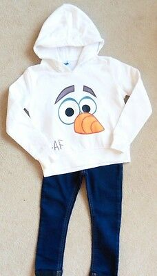 Girls Stunning Disney Hooded Top + F & F Jeggings, Age 2 - 3 Years