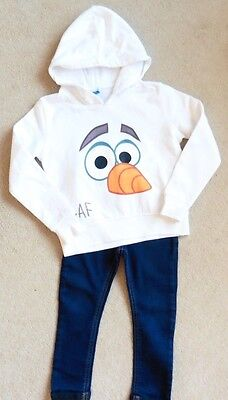 Girls Stunning Olaf Disney Hooded Top + F & F Jeggings, Age 2 - 3 Years