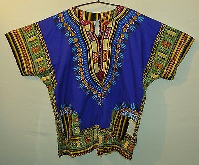 "DASHIKI shirt UK 3XL US 2XL 54"" 137 cm chest XT 32"" long"