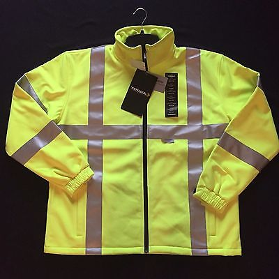 Terra GLOW Men's High-Visibility Reflective Soft-Shell Yellow Jacket