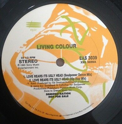 """12""""  Living Colour Love Rears It's Ugly Head Demo 1990."""