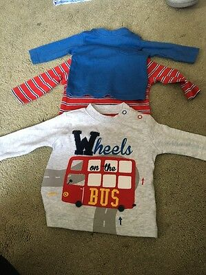 3 Pack Of T Shirts Size 1 Month Mothercare