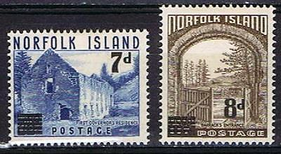 Norfolk Island 1956 Pictorial Surcharges - MH