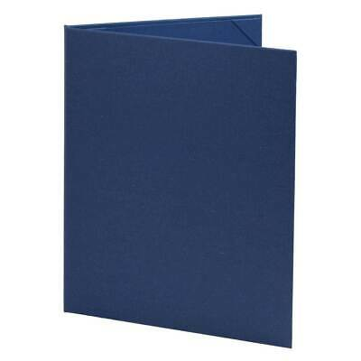 "(10pk) Blue Poly-Cotton Menu Covers, 2-panel, 8.5"" x 11"" insert"