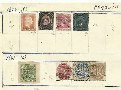 Prussia 1850 & 1871 old but high cat values